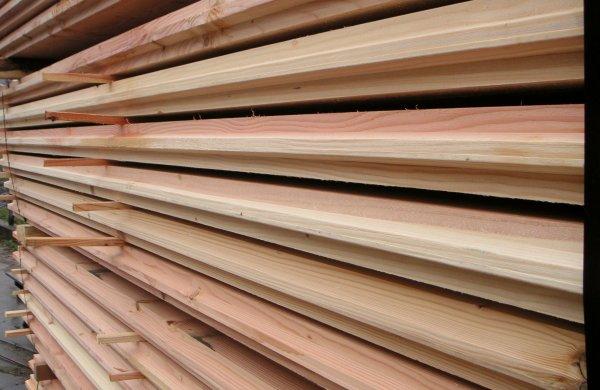 Damwand van Douglas hout